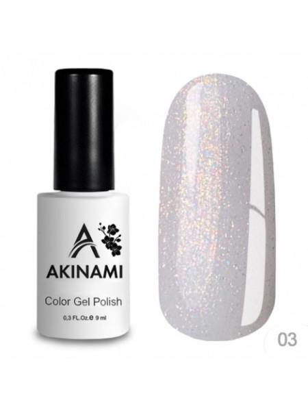 База каучуковая для гель-лака Akinami Glitter Base Gel 3