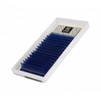 Ресницы Barbara цветные MIX синие, изгиб С- толщина 0.10