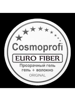 """Cosmoprofi Гель д\наращивания ногтей """"Euro Fiber"""" со стекловолокном 15 гр"""