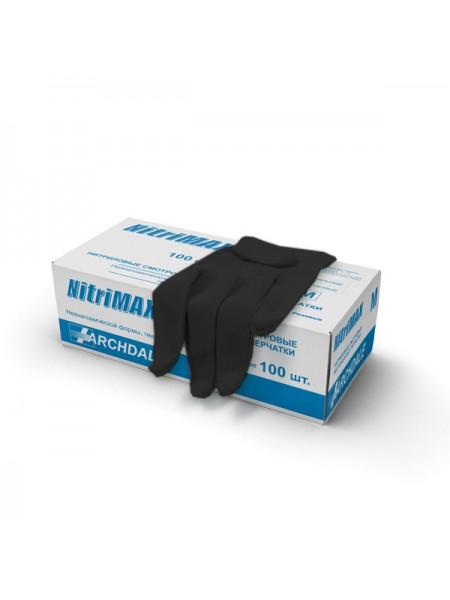 """Перчатки нитриловые """"NitriMax"""" S чёрные 50 пар"""