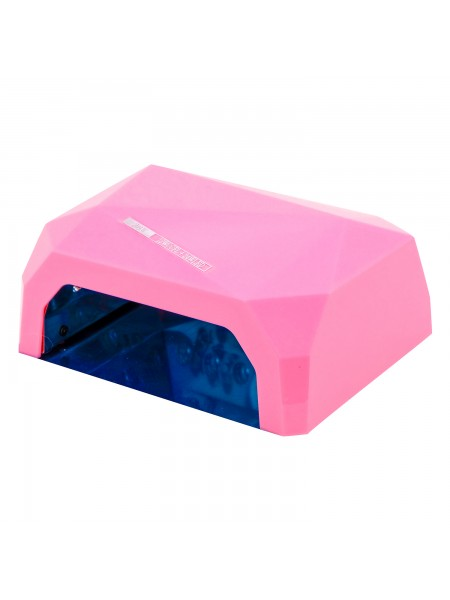 Гибридная Лед-Уф лампа хром.РОЗОВАЯ  (12 W уф, лед 24 ватт) 36W-D