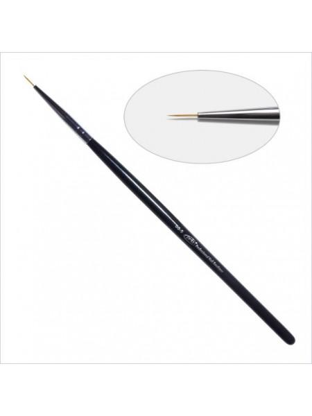 1D Кисть для дизайна круглая 00-s PNB, нейлон/ Nail Art Brush round 00-s, nylon