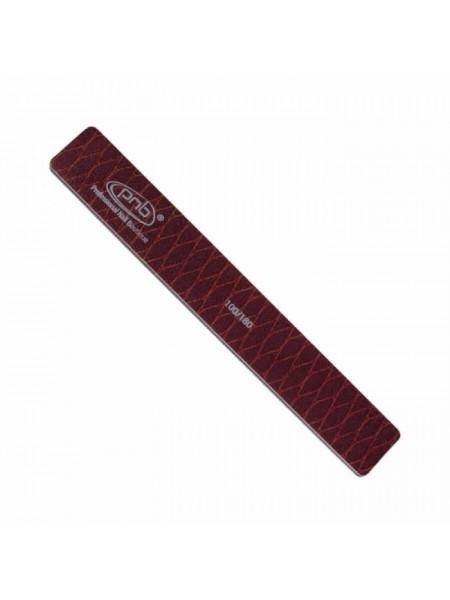 Пилка-змея для ногтей PNB 100/180 Brown, прямоугольная