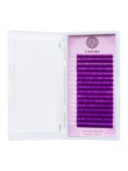 """Ресницы Цветные MIX D0,10  8-13 mm Enigma """"Фиолетовый"""" №LL524405  (16 линий)"""
