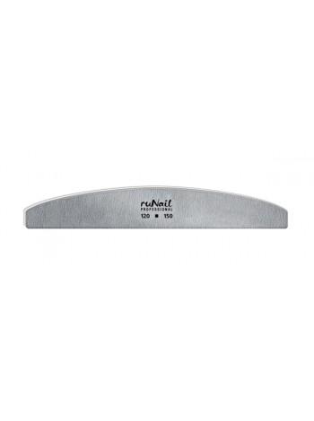 Профессиональная пилка для искусственных ногтей (серая, полукруглая, 120/150)
