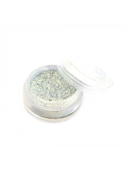 Пыль мерцающая мелкодисперсная №05 (серо-голубая)