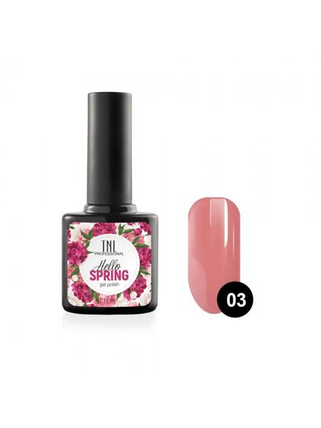 Гель-лак TNL Hello Spring №03 - розово-коралловый (10 мл.)