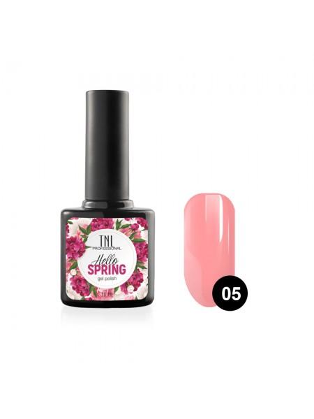Гель-лак TNL Hello Spring №05 - розовый фламиного (10 мл.)
