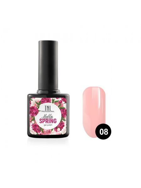 Гель-лак TNL Hello Spring №08 - дымчато-розовый (10 мл.)