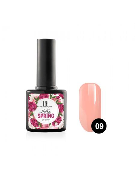 Гель-лак TNL Hello Spring №09 - персиковый (10 мл.)