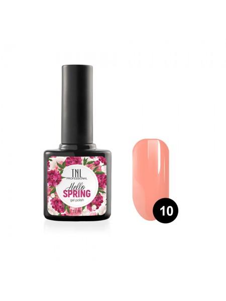 Гель-лак TNL Hello Spring №10 - персиково-розовый (10 мл.)
