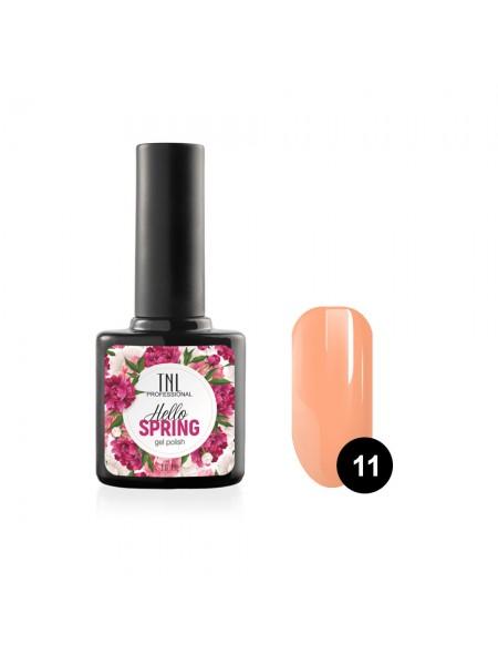 Гель-лак TNL Hello Spring №11 - абрикосовый (10 мл.)