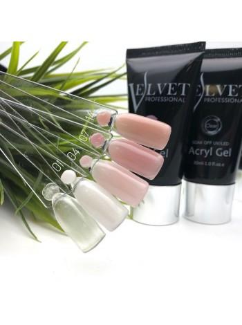 Velvet Acryl gel, белый №001, 30 мл